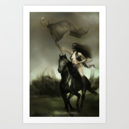 Lady Justice Art Print