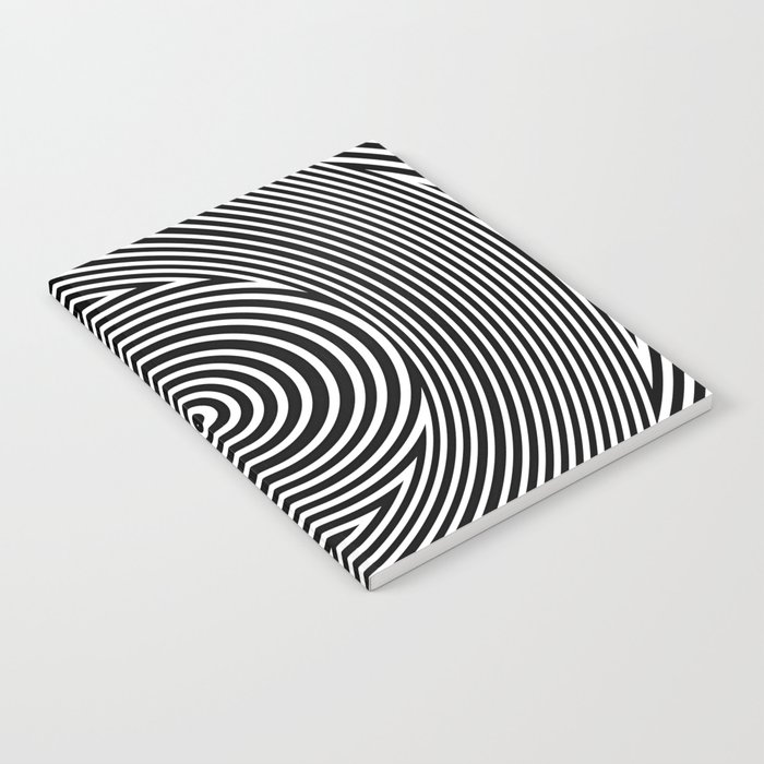 Black and White Dizzy Notebook