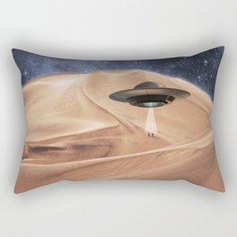 ALIEN DESERT ABDUCTION Rectangular Pillow