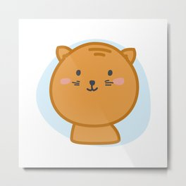 moew *i can customize your cat Metal Print