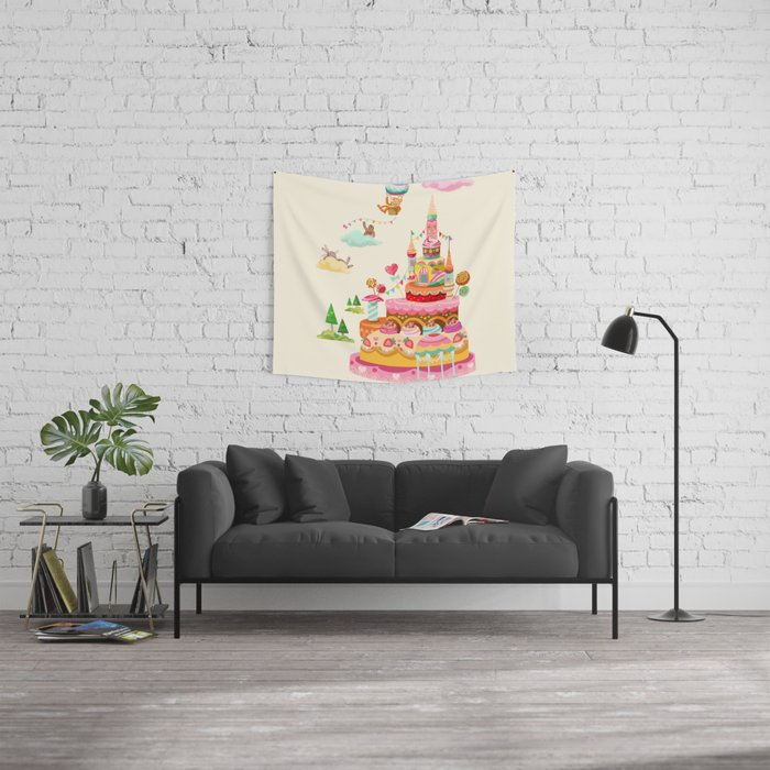 Ice Cream Castles In The Air Wall Tapestry