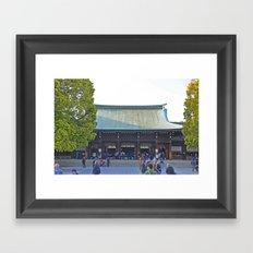 Meiji Jinju Framed Art Print