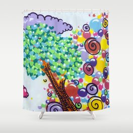 tree of love Shower Curtain