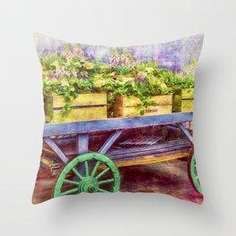 Market Flowers Throw Pillow