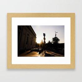 Budapest Sun  Framed Art Print