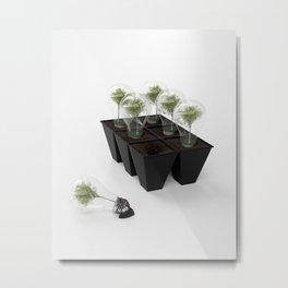 Eco Bulb 6 pack Metal Print