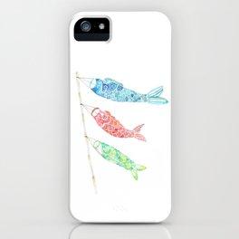Watercolor Japan Carp Streamers / Koinobori iPhone Case