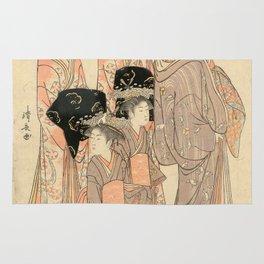 The Courtesans Maizumi Of The Daimonjiya Brothel Rug