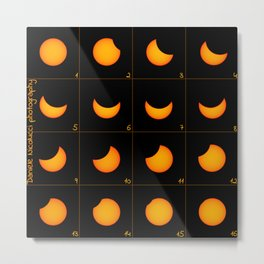 Solar Eclipse of 2015-03-20, Composite of 16 images Metal Print