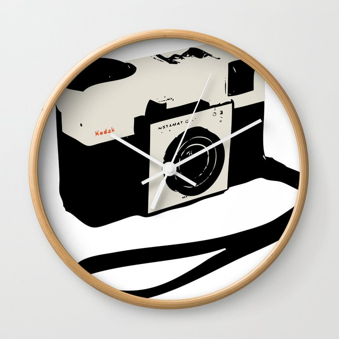 ivory kodak instamatic camera Wall Clock
