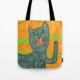 Lucy Cat on Yellow Tote Bag
