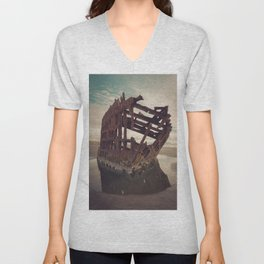 Shipwrecked - The Peter Iredale Unisex V-Neck