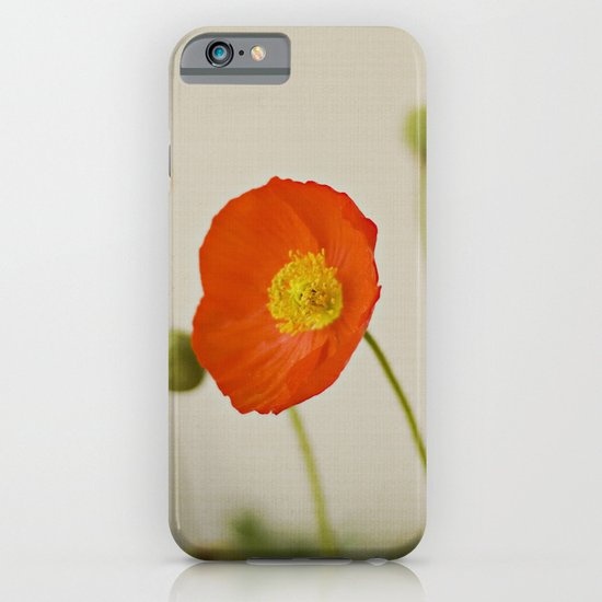 Orange Poppy Bloom Red Green Yellow Flower iPhone & iPod Case