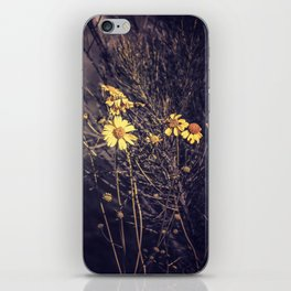 Yellow Desert Flowers iPhone Skin