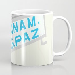 Latin American Bus Sign Collage Coffee Mug
