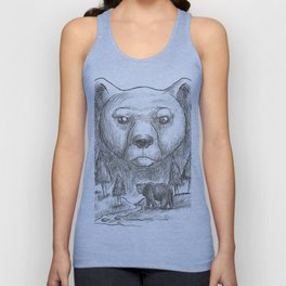 Bear Fur Under This Shirt. Funny Humorous Design for Natural Body Lovers. Furry Body shirts for men, Unisex Tank Top