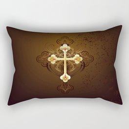 Golden Cross Rectangular Pillow