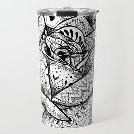 Henna Rose Tattoo Travel Mug