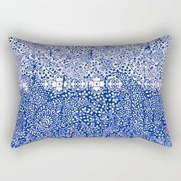 sarasa paisley all over in blues Rectangular Pillow