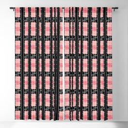Squaregyle Peach/Coral/Black Blackout Curtain