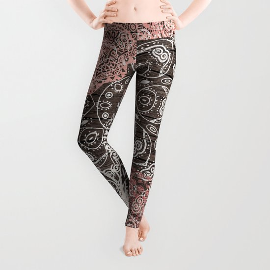 HAPPY GO LUCKY - BOHO WOOD Leggings