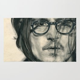 Secret Window Traditional Portrait Print Rug