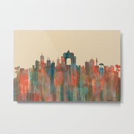 Wellington NZ Skyline - Navaho Metal Print