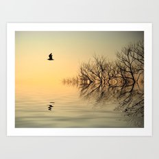 Dusk Flight 2 Art Print