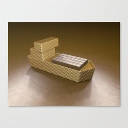 Chocolate Ship - 3D Art Canvas Print