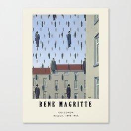 Poster-Rene Magritte-Golconda. Canvas Print