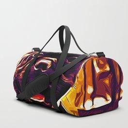 french bulldog basketball vector art late sunset Duffle Bag