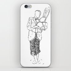 Holding the Bunny iPhone & iPod Skin
