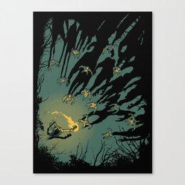 Zombie Shadows Canvas Print