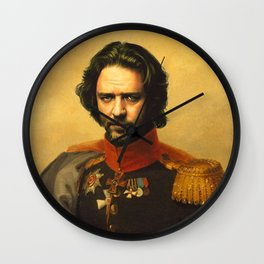 Russell Crowe - replaceface Wall Clock