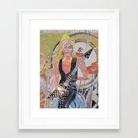 randy c Framed Art Prints featuring Randy Rhoads by Robert E. Richards
