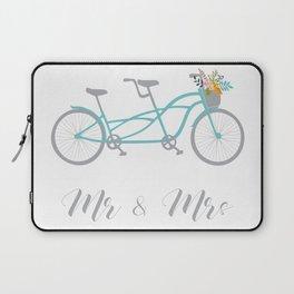 MR & Mrs Tandem Bike Blue Laptop Sleeve