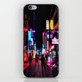 Vibrant Seoul Nights iPhone Skin