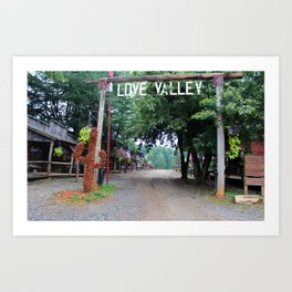 Town Of Love Valley Art Print