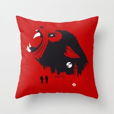An American Werewolf (Red Collection) Throw Pillow
