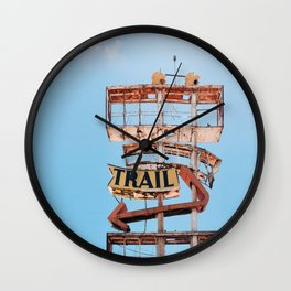 The Spanish Trail Vintage Neon Sign Wall Clock