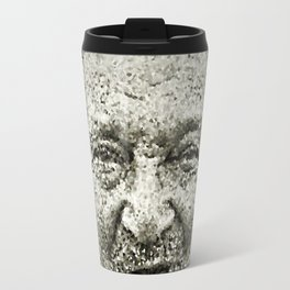 Portrait of a old man in the street Travel Mug