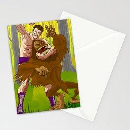 Legend vs Legend - Killer Kowalski vs. Big Foot Stationery Cards