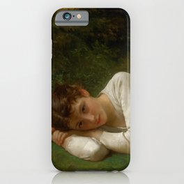 "William-Adolphe Bouguereau ""Le Repos (Jeune Fille Couchée)(Young Girl Lying Down)"" iPhone Case"