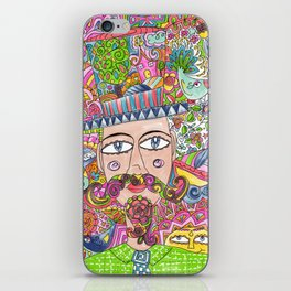 Man and his hat iPhone Skin