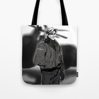 hetalia Tote Bags featuring hetalia pilot America by Hellacrappy