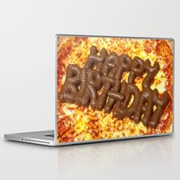 poop Laptop & iPad Skins featuring Pizza Poop by Carsick T-Rex