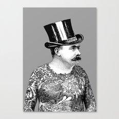 Tattooed Victorian Man Canvas Print