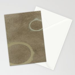 Two Circles - Modern Art - Abstract - California Cool - Popular Painterly - Law Of Attraction Stationery Cards