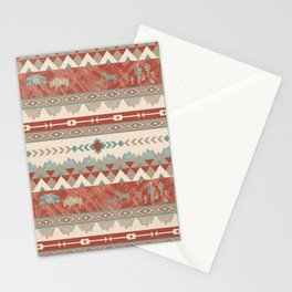 Southwest Village in Brick and Teal Stationery Cards