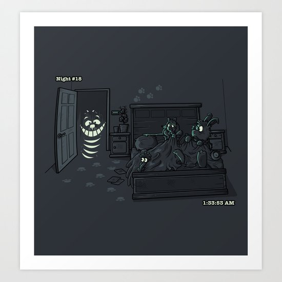 CHESHIRE ACTIVITY Art Print